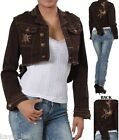 Brown Fishtail Butterfly Embroidered Back Cropped Bolero/Shrug/Cover Jacket