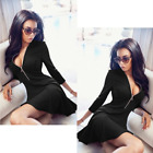 Fashion Women Long Sleeve Casual Party Evening Cocktail Party Short Mini Dress