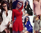 fashion dress - Fashion Women Long Sleeve Casual Party Evening Cocktail Party Short Mini Dress