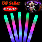 60-1000PCS Light Up Foam Sticks LED Multi Color Rave Cheer Tube Glow Baton Wands