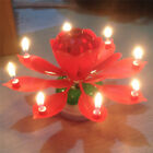 Double-deck Rotating Music Lotus Flower Candle For Birthday Party CakeCandle