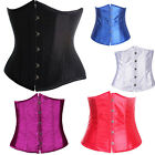 HOT Pure Underbust Waist training STEEL boned corset Top+G-string Plus S-6XL A11