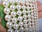 """White Mother of Pearl Shell beads 4mm 6mm 8mm 10mm 12mm 14mm 16mm 18mm 15.5""""L"""