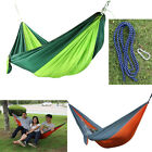 Portable Double 2 Person Travel Camping Nylon Fabric Parachute Hammock Swing Bed