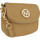 MKF Collection by Mia K. Farrow Madilyn Embossed M Cross-Body Bag NEW