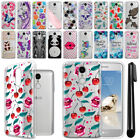 For LG Aristo MS210 LV3 M150 Fortune Ultra Thin Clear TPU Case Phone Cover + Pen