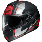 Shoei Neotec Imminent TC1 Red Black Flip Front With Sunvisor Motorcycle Helmet