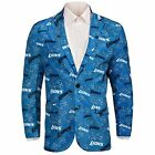 Forever Collectables NFL Men's Detroit Lions Ugly Business Jacket, Blue