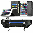 Apple iPhone 6s / 7 Plus Wallet Case Cover w/ Sports Fitness Exercise Belt