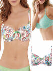 Lepel Lilly T-Shirt Bra Underwired Moulded Balcony White Print and Pale Green