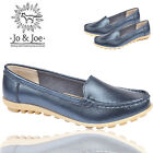 LADIES LEATHER  JO&JOE LOAFERS SLIP ON OFFICE WORK CASUAL WOMENS SHOES UK 3-8