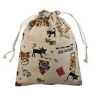 Hiking Travel Cat Print Protable Sundries Storage Candies Pouch Drawstring Bag