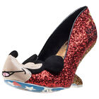 Irregular Choice Oh Boy! Womens Red Synthetic Casual Shoes Slip-on New Style