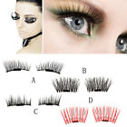 Women Ultra-thin 0.2mm Magnetic Eye Lashes 3D Reusable False Magnet Eyelashes