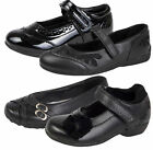HALF PRICE SALE - Girls Black School Shoes Faux Leather Formal Shoes Kids Size