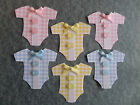 GINGHAM BABY ROMPERS, BABY CLOTHES. BABY CARD MAKING & SCRAPBOOK EMBELLISHMENTS