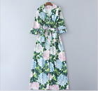 17 Occident autumn fashion high quality fresh Printed long sleeve dress SMLXLXXL