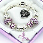 ENGRAVED Jewellery For Women Girls Personalised Gift Purple Bracelet Any Message