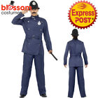 CA417 Mens London Bobby Costume Police Cop Uniform Fancy Dress Up Officer Outfit