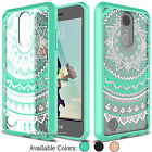 For LG Phoenix 3 /Fortune /Risio 2 Clear Case Hybrid Shockproof TPU Bumper Cover