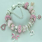 Womens Jewellery Pink Bracelet 18th 21st 30th 40th 50th 60th Birthday Gifts