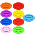 One-piece Smile Silicone Mat Kid Baby Table Food Dish Tray Placemat Plate Bowl