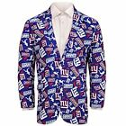 Forever Collectables NFL Men's New York Giants Ugly Business Jacket, Blue