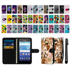 For Kyocera Hydro Wave C6740 Air Pattern Design Canvas Wallet Case Cover + Pen