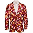 Forever Collectables NFL Men's Washington Redskins Ugly Business Jacket, Red