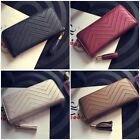 Women Leather Clutch Long Wallet Pu Card Holder Lady Purse Handbag Envelope Bag