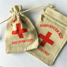 10 x Hangover Recovery Kit Cotton Favour Bags Bachelorette Party Supplies