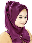 MyBatua Wine & Beige Crepe Hijab, Embroidered, Party Wear, Muslim Scarf HJ-027