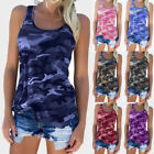 Summer Women Camouflage Sleeveless T-Shirt Tank Top Casual Sports Yoga Vest TOP