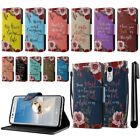 For LG Aristo MS210 LV3 K8 Bible Verses Design Wallet Cover Case Kickstand + Pen