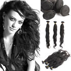 100% Remy Natural Body Wave Wavy Virgin Human Hair Weaving Weft Extensions 50g