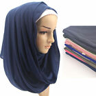 Women Modal Cotton Plain Muslim Hijabs Scarf Arabian Jersey Head Wraps 180x85cm