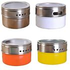 Stainless Steel Magnetic Spice Portable Storage Tins With Rack Holder