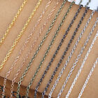 5/100Meters Silver/Gold Plated Cable Open Link Iron Metal Chain Jewelry Findings