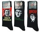 3 Mens Hammer Horror Dracula Frankenstein Halloween Character Socks UK 6-12