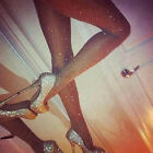 UK Women Stretch Slim Thin Bling Crystal Rhinestone Pantyhose Tights Stockings