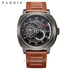 44mm Parnis 21 Jewels Miyota Automatic Sapphire Small Second Men's Vintage Watch
