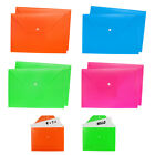 File Folders A4 Plastic Wallets Documents School Office Stationary Paper Storage