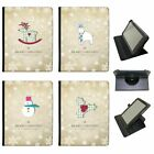 Christmas & New Year Wishes Universal Folio Leather Case For Most Tablets