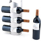 3/4Layers Metal Wall Mounted Bottle Wine Holder Storage Rack Space Saver