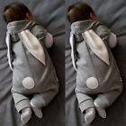 Newborn Baby Girl Boy Rabbit 3D Ear Romper Jumpsuit Bodysuit Outfits Clothes UK