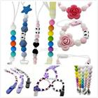 Infant Baby Silicone Pacifier Holder Clip Chain Dummy Nipple Teether  Bead Strap
