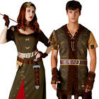 Robin Hood Fairy Tale Adult Fancy Dress Tudor Medieval Book Day Week Costume New