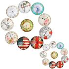 10X 12/20mm Handmade Photo Image Clock Round Glass Cabochon Dome Flat Back Cover