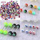 Tongue Bars Steel Barbell Rings Mixed Ball Body Piercing Bright Jewellery