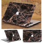 """Griotte Marble Black Leather Coated Matte Case for MacBook Air Pro 13"""" 15"""" 2016"""